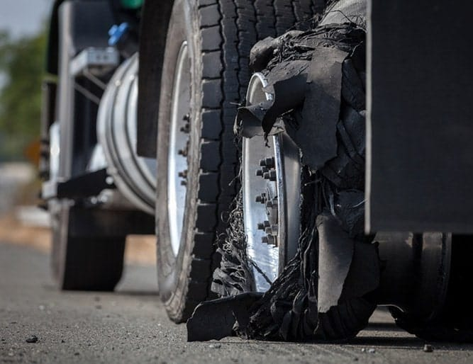 Truck Accident Caused by Tire Blowout