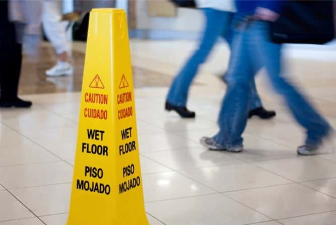 Wet Floor Causes Injuries in Slip and Fall
